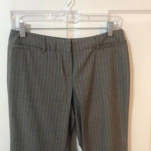 New York & Company Grey & White Stripe Dress Pants